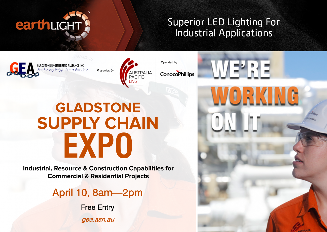 Gladstone Supply EXPO | Earthlight | Earthtrack group